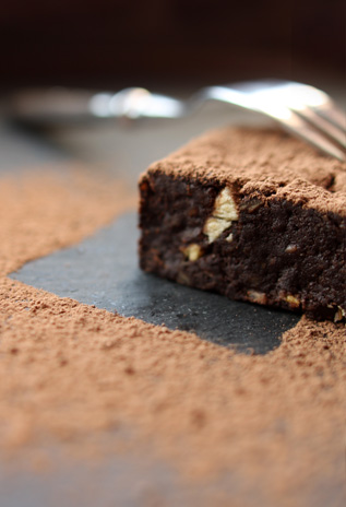 Raw Banana-Nut-Brownie
